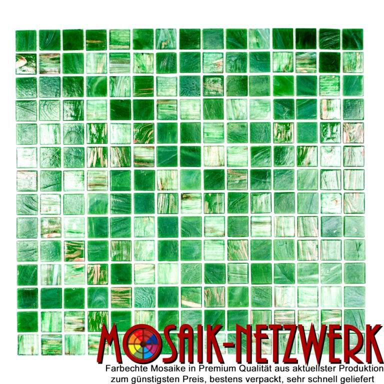 Mosaik Glas Goldensilk grün Wand Sauna Bad Küche WC Boden  54-0504_f   10 Matten