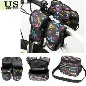 Bicycle-Bike-Cycling-Frame-Pannier-Saddle-Front-Tube-Bag-Double-Shoulder-Pouch