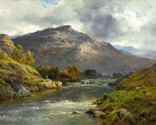When the Trout Rise by Alfred De Breanski  Art Wales Scotland UK 8x10 Print 0702