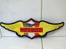 Fahnen Flagge Patch Rückenaufnäher Moto Guzzi Gewebeaufnäher 30 x 10,5 cm