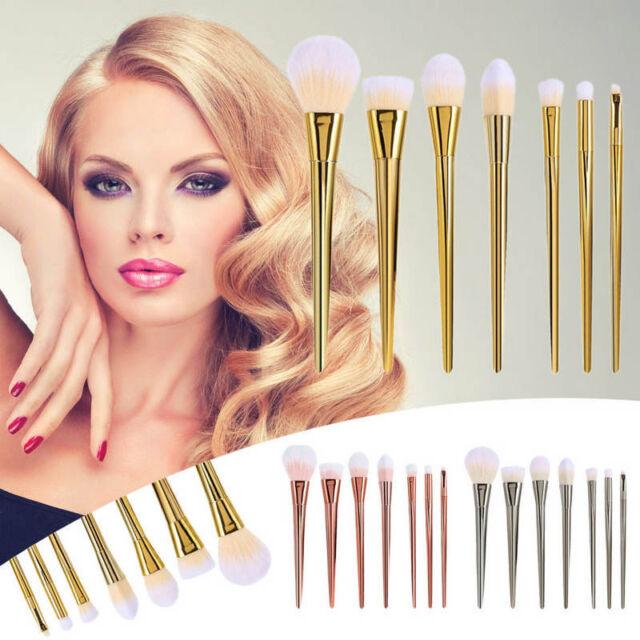 Lot 7pcs/Set Makeup Brushes Powder Foundation Eyeshadow Eyeliner Lipbrush Tools