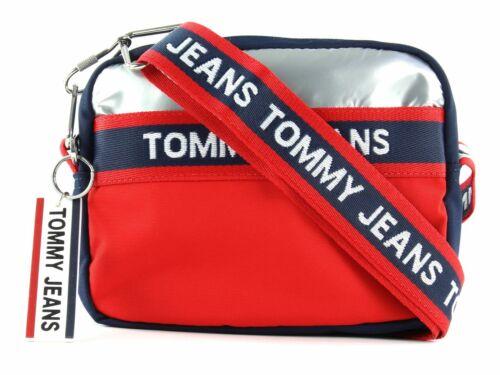 TOMMY HILFIGER TJW Logo Tape Crossover CB Umhängetasche Tasche Corporate Rot