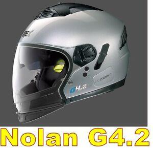 CASCO-NOLAN-GREX-G4-2-N-COM-EX-N43E-AIR-ARGENTO-COL-3-Tg-034-XXL-034-SILVER