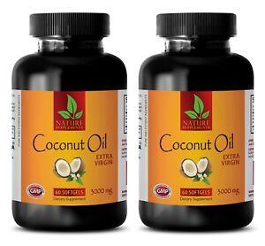 Metabolism-Enhancer-Coconut-Oil-Capsules-3000mg-Slimming-Pills-2-Bottles