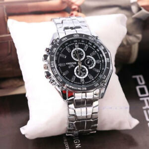 Men-039-s-Stainless-Steel-Quartz-Analog-Wrist-Watch-Sport-Watches-Gifts-Luxury