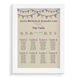 Personalised-wedding-table-plan-VINTAGE-BUNTING-retro-vintage-sign-keepsake