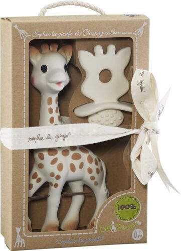 Giftwrap Available Giraffe Sophie La Girafe Teether Toy /& Natural Soother