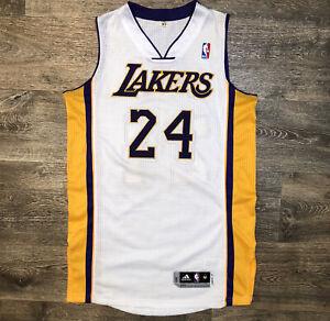 Kobe Bryant Adidas Clima Cool LA Lakers Jersey White Men's M +2 Length