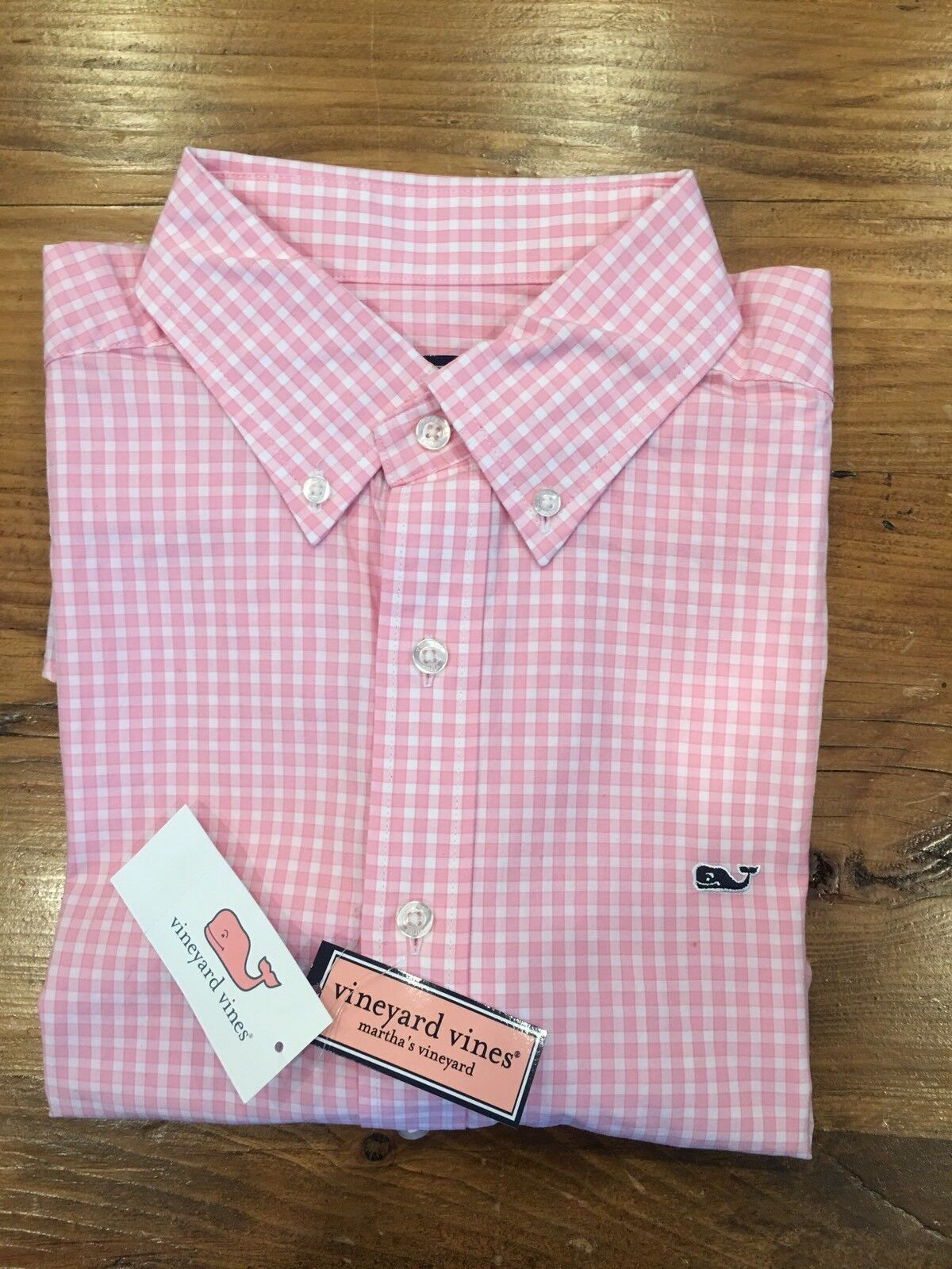 Mens Vineyard Vines Long Sleeve Gingham Button Up Collared Shirt- Extra Large XL