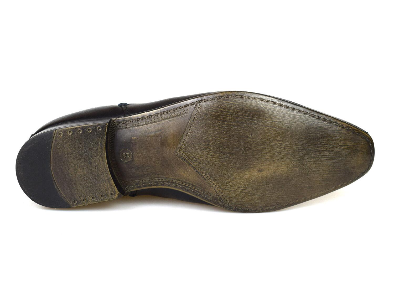 Silber Street Carnaby Carnaby Carnaby Schwarzes Leder Herren Chelsea Stiefel f94f8f