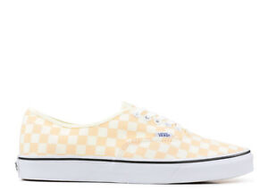 Image is loading Vans-Authentic-Checkerboard-Apricot-Ice-True-White-Mens- 663609e15