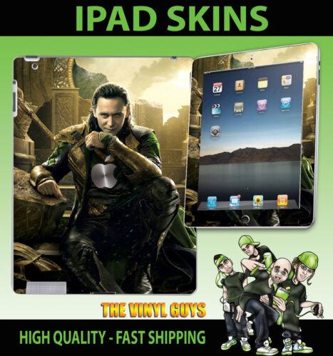 Apple iPad 2 3 3G 4G /& wifi peau Loki Dieu de méfait supervillain Vinyle Autocollant