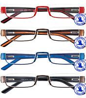 Damen Lesebrille Brille aus Metall Lesehilfe mit Etui Neu 1,0 1,5 2,0 2,5 3,0