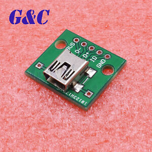 Mini USB To DIP Adapter Converter For 2.54mm PCB Board DIY Power Supply NEW