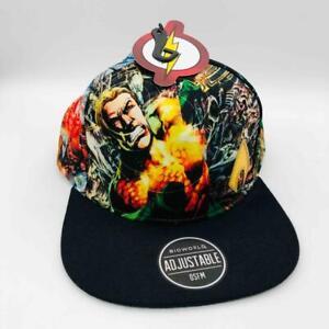 DC Comics Aquaman & Black Manta Men's Sublimated Adjustable Snapback Hat Cap