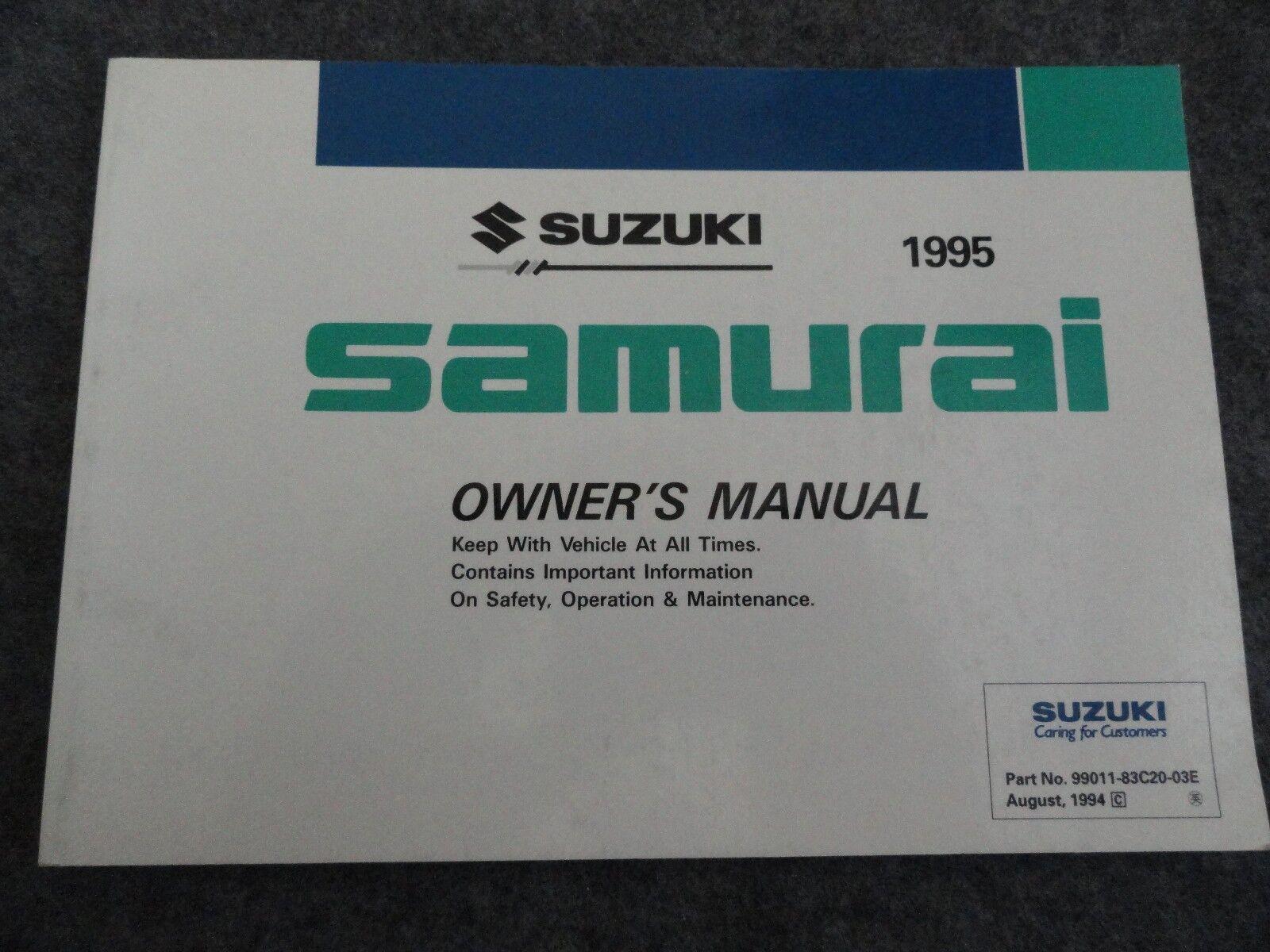 Strange 1995 Suzuki Samurai Owners Manual Nqoiat8680 Other Car Manuals Wiring Database Gramgelartorg