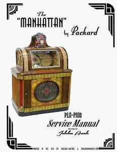 Details about Packard Manhattan Jukebox Service Manual by Jukebox Arcade  Exclusive!