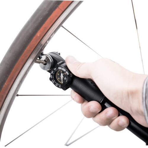 Topeak Roadie Da /_ g Vélo Mini Air Pompe 8 bar Dual Action manomètre pompe manuelle