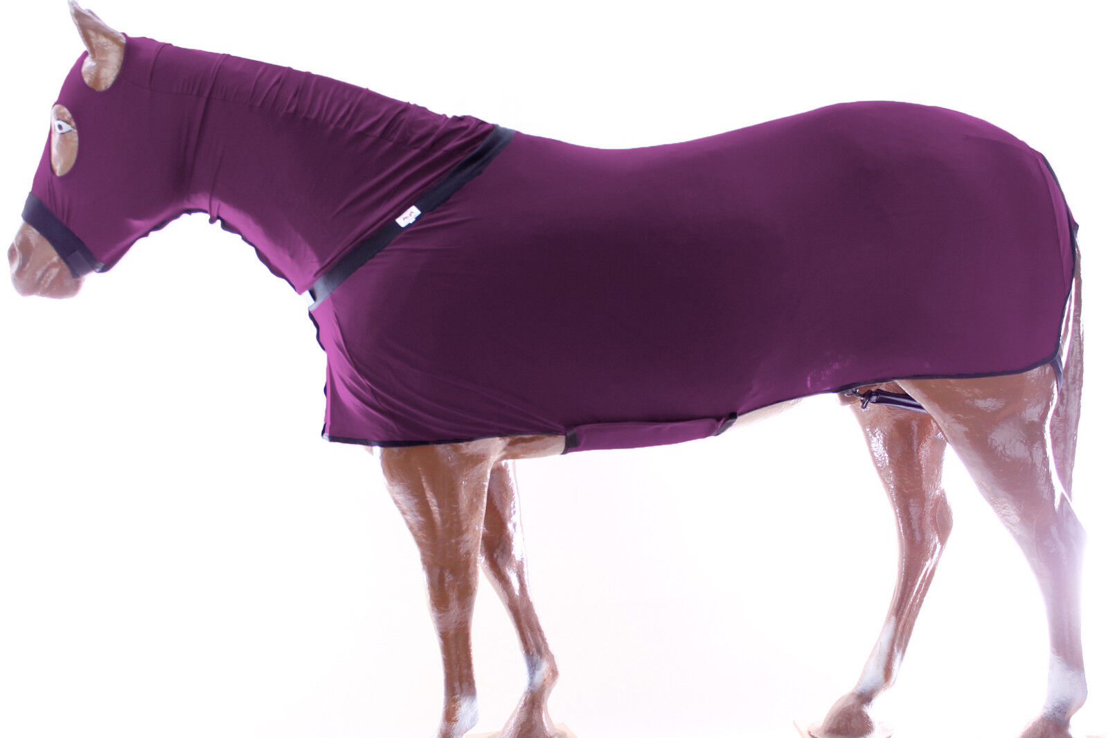 Horse Full All Body Zippered Lycra Slinky  Stretch Fabric Suit purple  Medium  no minimum