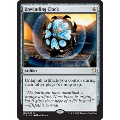 1x UNWINDING CLOCK Artifact Magic the Gathering MTG NM Commander