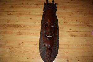 Afrika Masken GroßZüGig Alte Echtholzmaske Aus Vergangenen Seefahrerzeiten QualitäT Zuerst