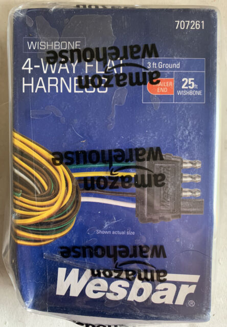 Wesbar 707261 Wishbone Style Trailer Wiring Harness With 4