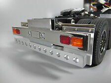 Aluminum Rear T-Bar Bumper with LED holes for Tamiya RC 1/14 King Hauler Semi