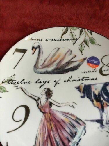 "Better Homes Gardens Twelve 12 Days of Christmas Porcelain Salad Plate""7,8,9"""