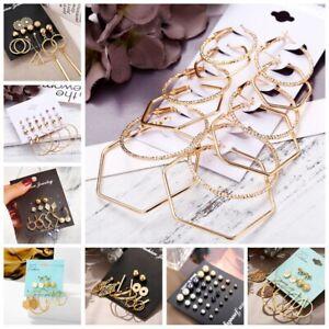 Crystal-Pearl-Hook-Hoop-Drop-Dangle-Earrings-Set-Women-Ear-Stud-Jewelry-7-Styles