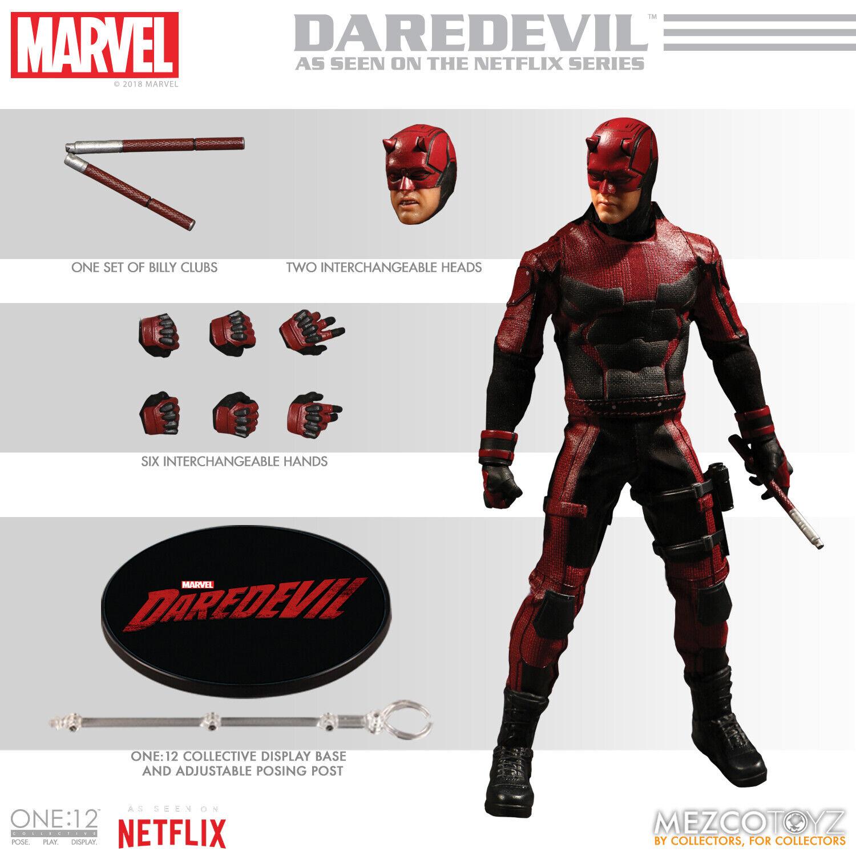 Mezco One 12 Collective Marvel Netflix DArotEVIL figure MIB  Charlie Cox