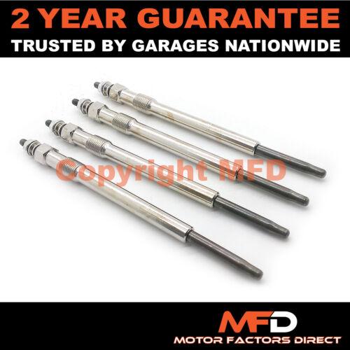 2005 - Diesel Chauffage Bougies De Préchauffage Plug Set Complet NEUF 4X pour JAGUAR X-TYPE 2.2