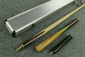 034-Grand-Cues-034-Handmade-57-034-3-4-Piece-Ash-Shaft-Walnut-Wood-Snooker-Cue-Set-GM05