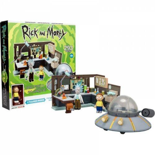 RICK /& MORTY McFarlane Spaceship /& Garage 293-Piece Construction Set #NEW
