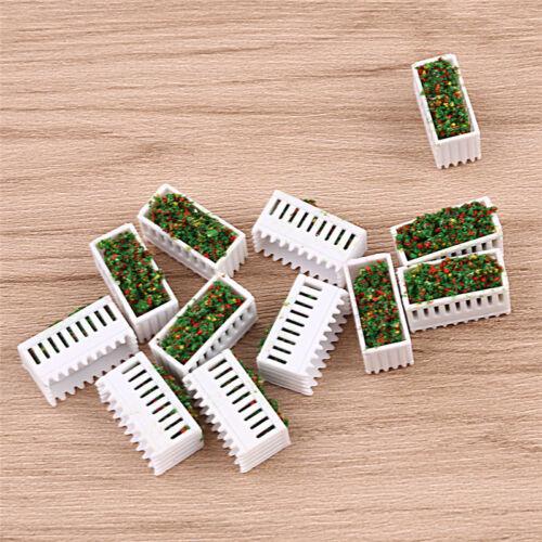 Mini Rechteck 12x Garten Grenze Parterre Landschaft Deko Neu Blumenbeet Modell