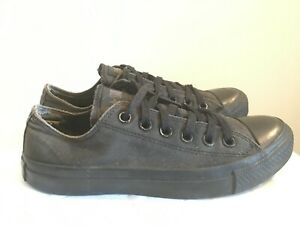 Details about Converse Chucks Trainers Sneakers mono low top black 5 38 blogger vintage worn