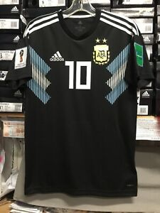 92591ede4 Adidas Argentina Jersey  10 Messi Name And Number 2019 Black Size ...