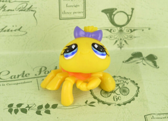 LITTLEST PET SHOP(77)-Yellow Spider #593 Rare