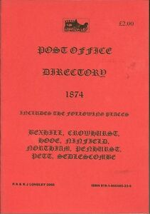 Bexhill 1893 Pike/'s Directory A5