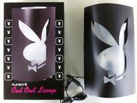 Playboy Tischleuchte - Cut Out Lampe - Bunny - Hase - Schwarz Leuchte NEU 24166