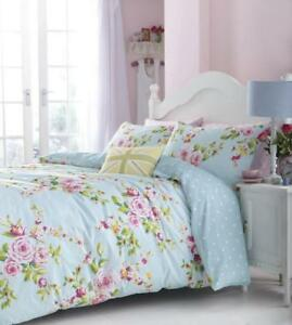 Catherine-Lansfield-Canterbury-Multi-Blue-Floral-Cotton-Rich-Duvet-Bedding-Set