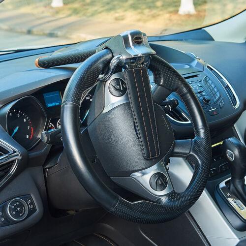 3 Keys Portable Car Steering Wheel Anti Theft Security Airbag Lock Safe Device