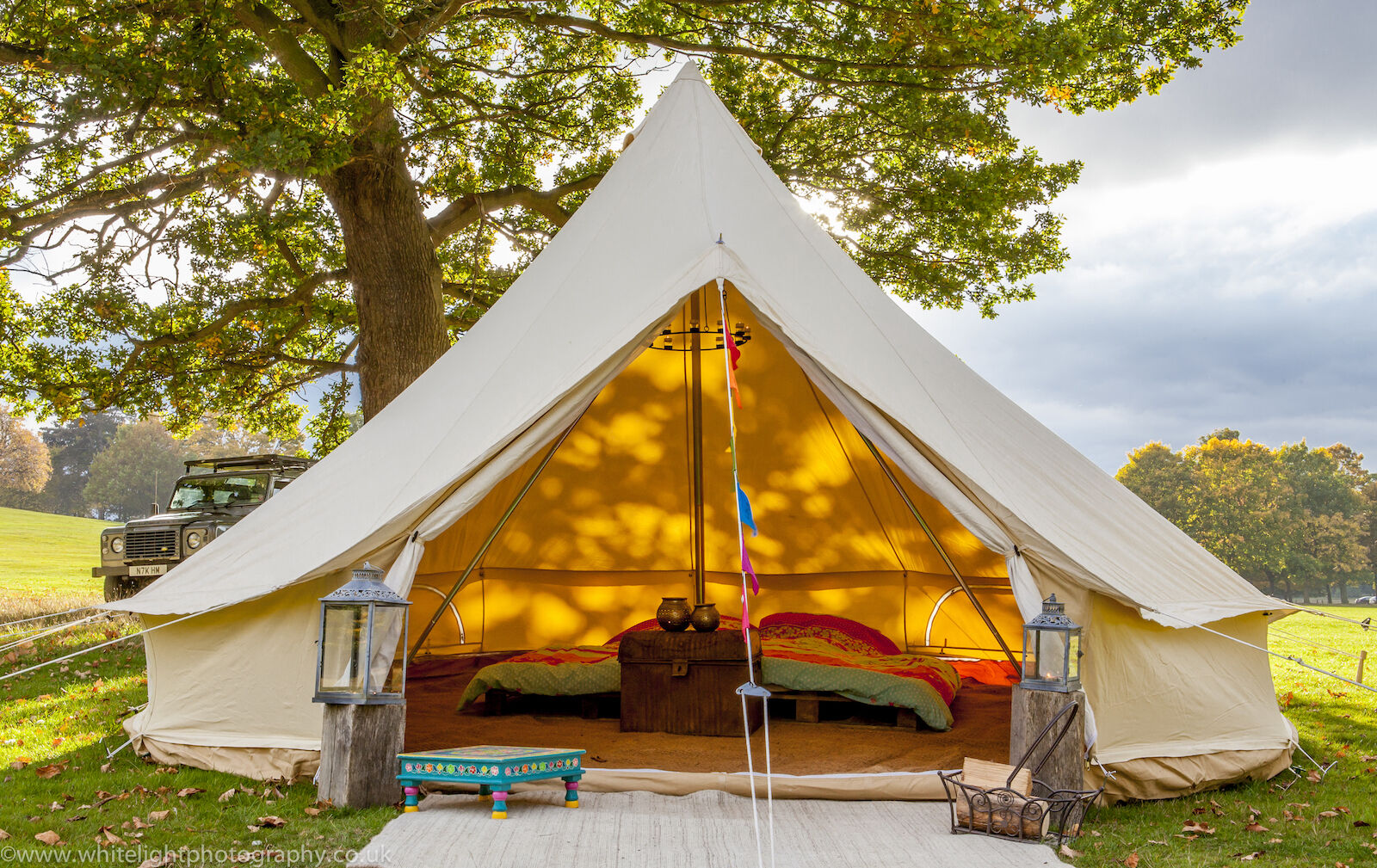 5m ZIG Bell Tent with Fireproof Stove Hole  by Bell Tent Boutique  limited edition