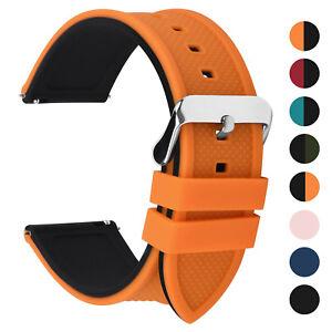 18-20-22-24mm-Watch-Band-Silicone-Men-Women-Sport-Watch-Strap-Waterproof-Rubber