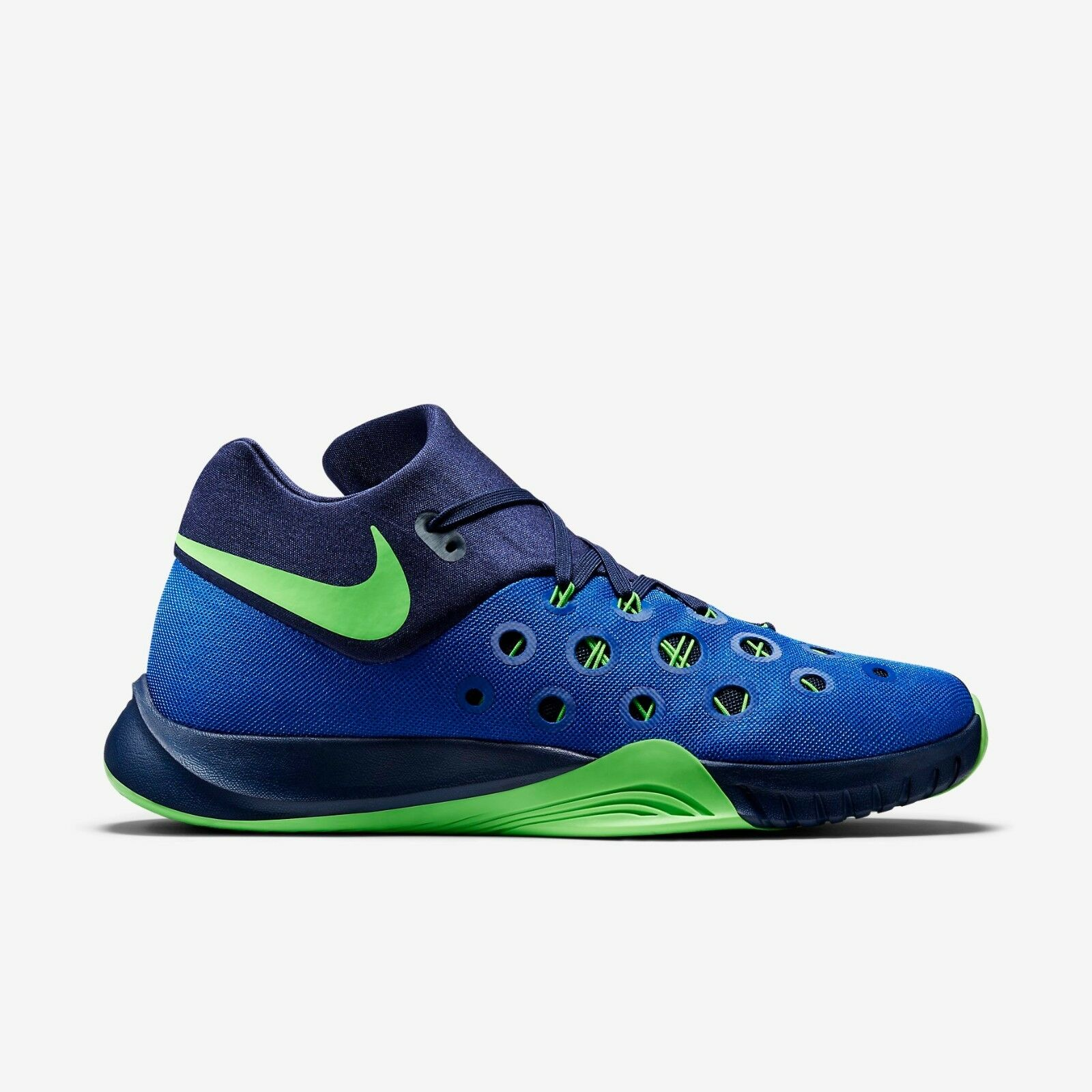 749882-434 Nike HyperQuickness 2015 Basketball Royal/Navy/Green Sz 8-12 NIB