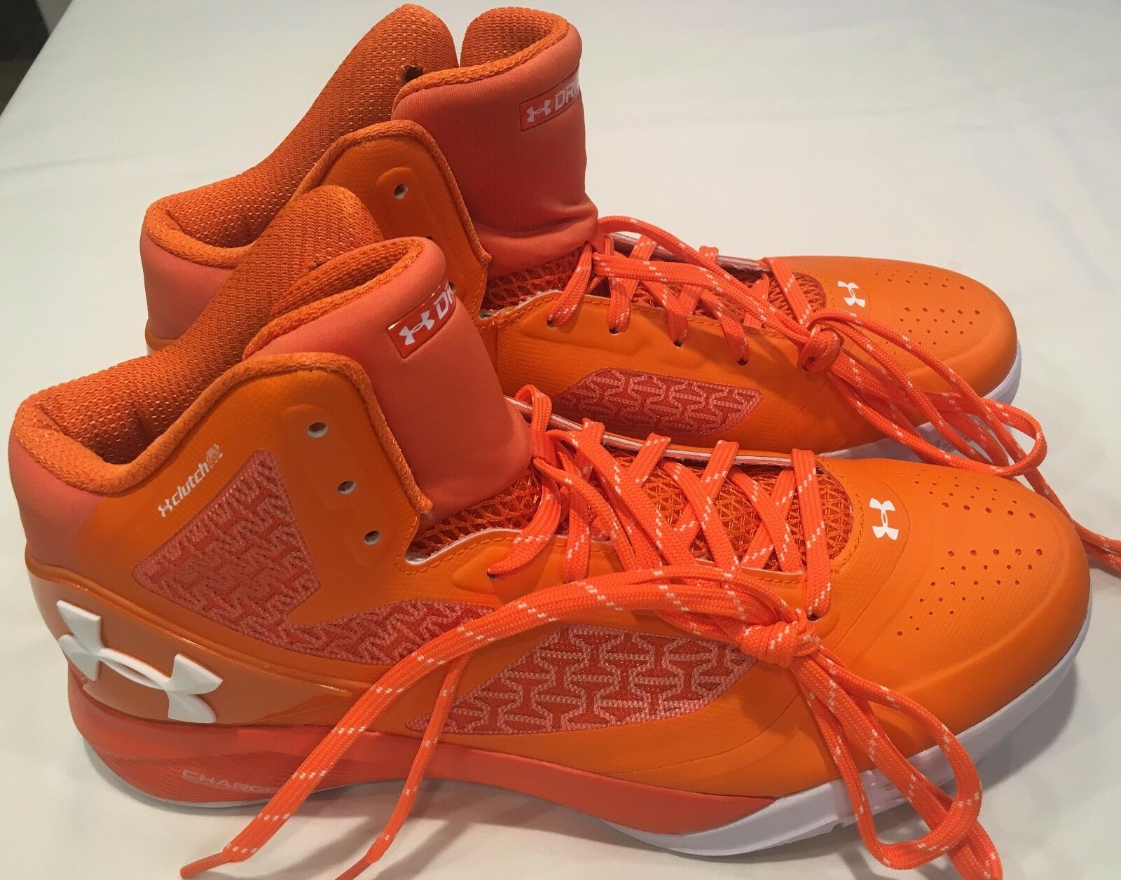 NWT mens size 11.5 UNDER ARMOUR shoes DRIVE clutch fit ORANGE basketball sneaker