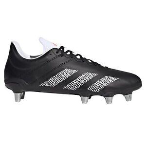 Adidas Kakari SG Terrain Souple Adulte Unisexe Rugby Union Boot Noir/Blanc