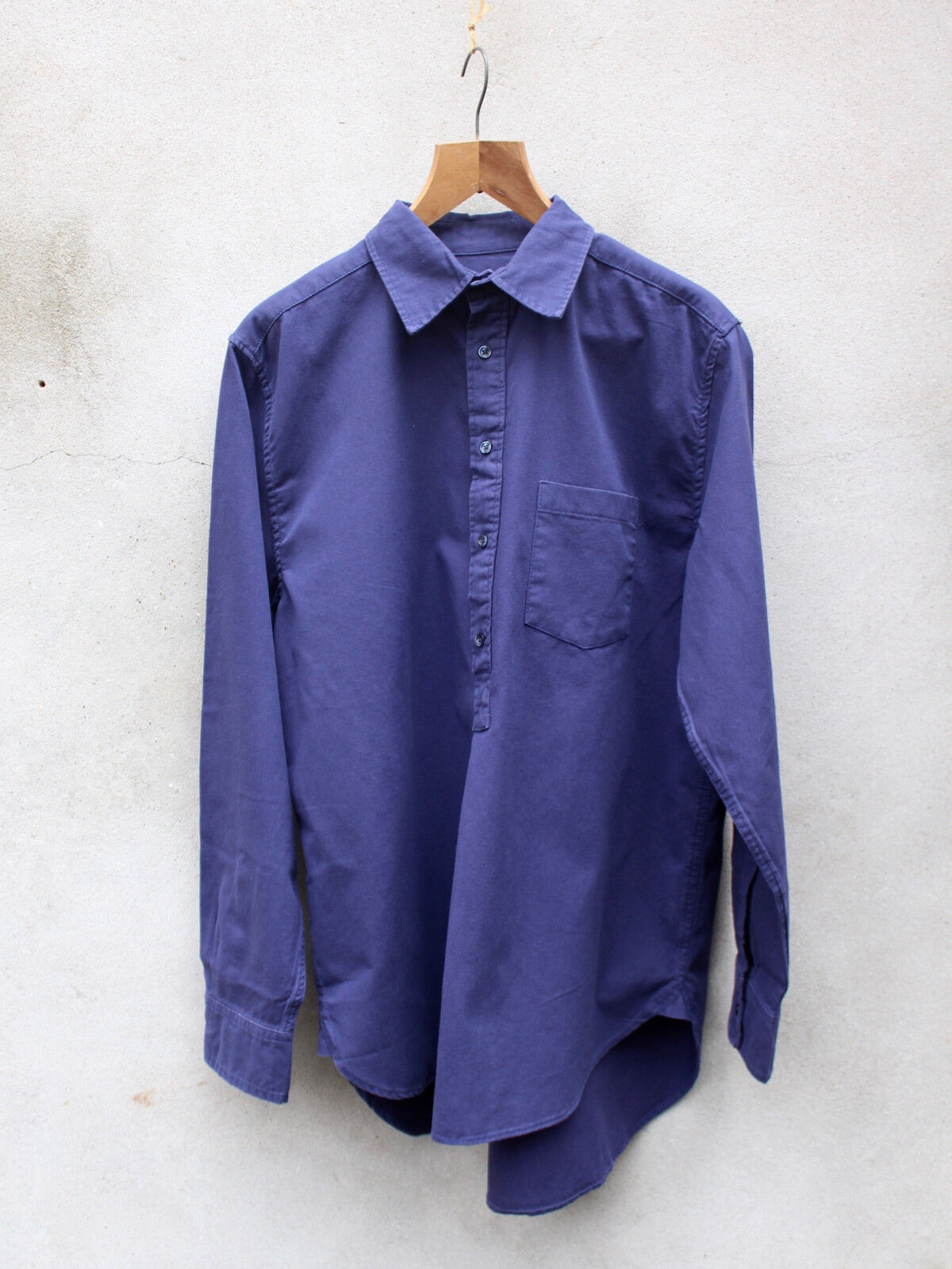 Soft Dark blu Work Shirt by Code, l'imprevisto – 100% cotone twill lavato
