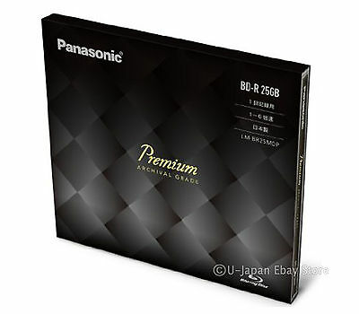 50 Years Archival Grade Blu-Ray Panasonic 25GB BD-R 1-6x Speed Bluray Disk