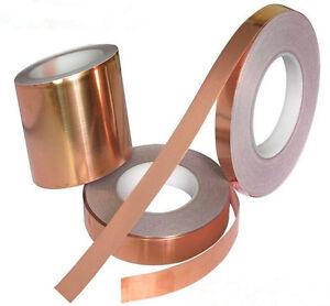 10mmX 20m 1Roll  EMI Copper Foil Shielding Tape Conductive Self Adhesive Barrier