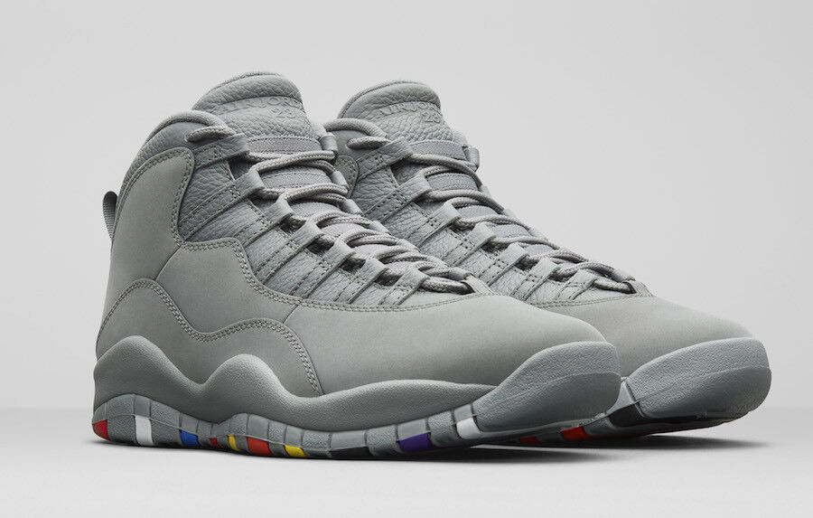 2018 Nike Air Jordan 10 x retro Cool popular Gris confortable el mas popular Cool de zapatos para hombres y mujeres 0a8463